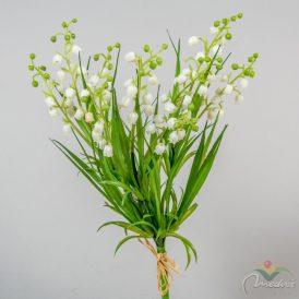 Gyöngyvirág csokor 3ágú M32cm 24db/#