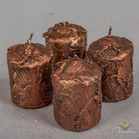 Antikolt adventi gyertya 40x68mm bronz 4db/csom (db ár)