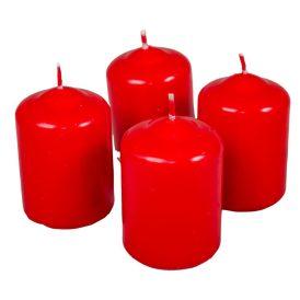 Mártott adventi gyertya 40x60 mm piros 12db/csom (db ár)