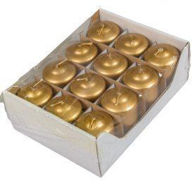 Metál adventi gyertya 40x60 mm arany 12db/csom (db ár)