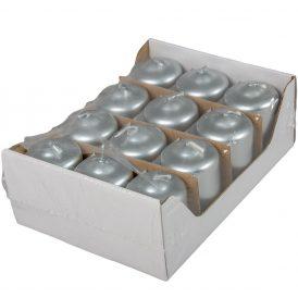 Metál adventi gyertya 40x60 mm ezüst 12db/csom (db ár)