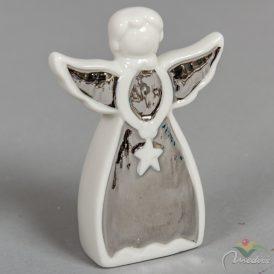 Kerámia angyal ezüst zománccal M11cm