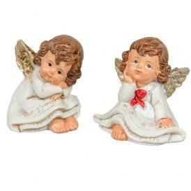 Kerámia angyal ülő poly.  M4,5cm