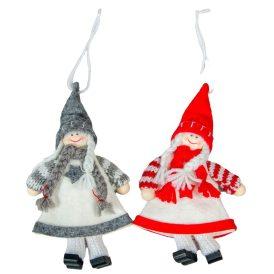Akasztós textil lányka 15cm
