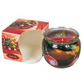 Poharas illatmécses füszeres narancs 6x7cm