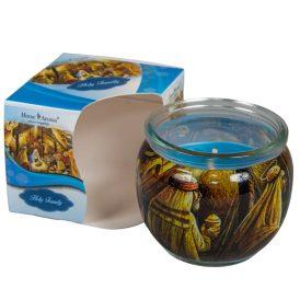 Poharas illatmécses Szent család 6x7cm