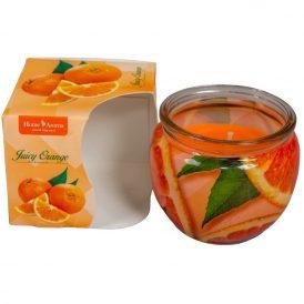 Poharas illatmécses narancs M6x7cm
