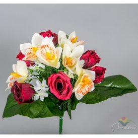 Rózsa, orchidea csokor 12v. 12db/karton Egész/fél kartonra rendelhető!