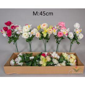 Rózsa,orchidea csokor 7v. 12db/karton Egész/fél kartonra rendelhető!