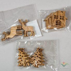 Áttört karácsonyi figura 5 cm 6db-os