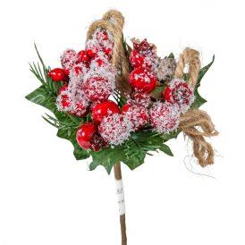 Havas csipkebogyós, madzagos karácsonyi pick17cm