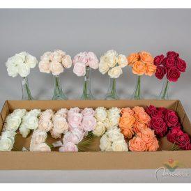 Rózsacsokor polifoam 6v. M22cm 24db/#