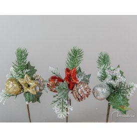 Almás, tobozos, csillagos karácsonyi pick 21cm