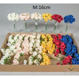 Polifoam rózsa csokor 8v. M16cm 36db/#