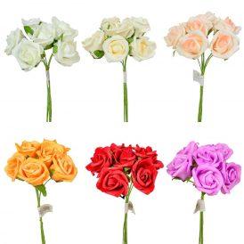 Polifoam rózsa csokor 6v. 24db/karton Egész/fél kartonra rendelhető!