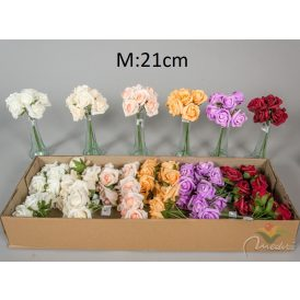 Polifoam rózsa csokor 6v. M21cm 24db/#