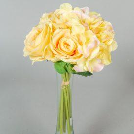 Rózsa, hortenzia köteg 8v. M28cm 12db/#