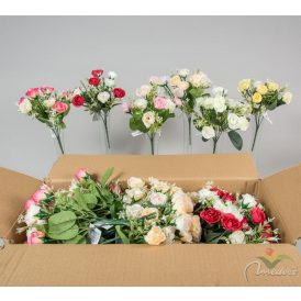 Rózsa csokor 10v. M28cm 48db/#