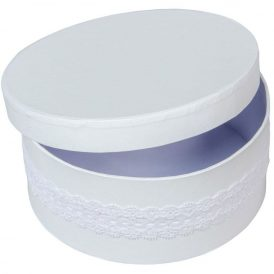 Papír doboz kerek D16 M7cm fehér