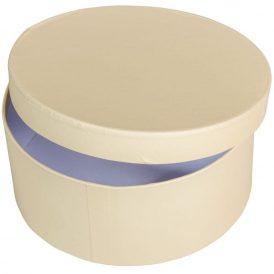 Papír doboz kerek, tetővel krém M7x16cm