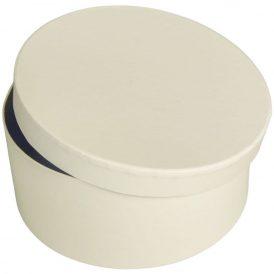 Papír doboz kerek, tetővel világos krém  M9x20cm