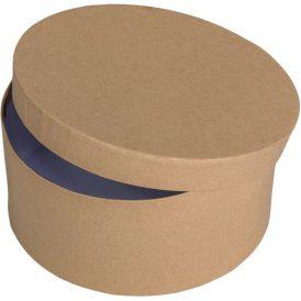 Papír doboz kerek, tetővel natúr M 9x20cm