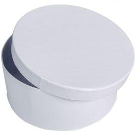 Papír doboz kerek, tetővel fehér  M9x20cm