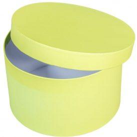 Papír doboz kerek alma zöld D22cm M13cm