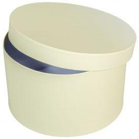 Papír doboz kerek krém D22cm M13cm