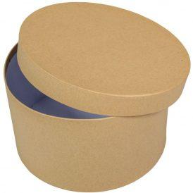 Papír doboz kerek natúr D22cm M13cm