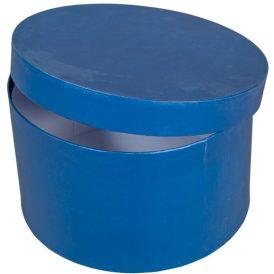 Papír doboz kerek sötét kék D22cm M13cm
