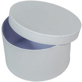 Papír doboz kerek tetővel  fehér  D22cm M13cm