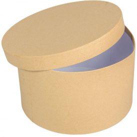 Papír doboz kerek natúr D25cm M15cm
