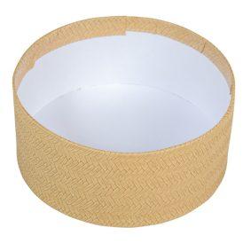Papír doboz bézs D16cm M7cm