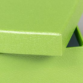 Papír doboz bőr mintás almazöld M10x16x16cm