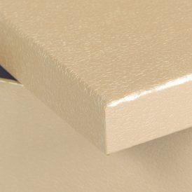 Papír doboz bőr mintás bézs M10x16x16cm