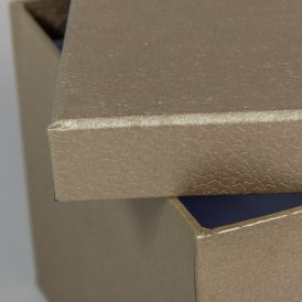Papír doboz bőr mintás homok M10x16x16cm