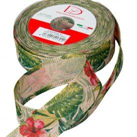 Egzotikus pamut szalag natúr 40mm x 20m