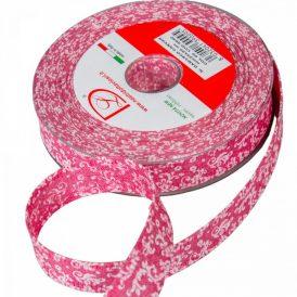 Damasco mintás pamut szalag rózsaszín 25mm x 20m