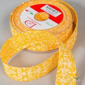 Damasco mintás pamut szalag sárga 40mm x 20m