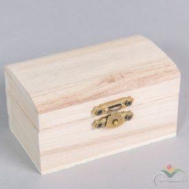 Fa doboz kicsi íves tetejü M5x5,5x9cm