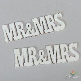 Fa MR&MRS felirat fehér 10,5cm 2db-os