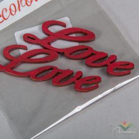 Love felirat meggypiros 8cm 2db-os