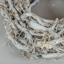 Rőzse koszorú  szürke D35cm