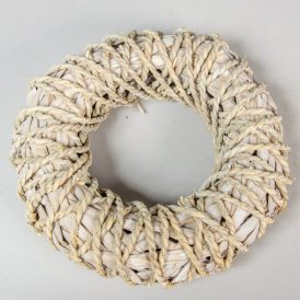 Háncs alap kötéllel átfont fehér D27cm
