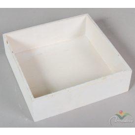 Fa doboz négyzetes fehér M6x20x20cm