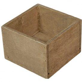 Fa doboz rusztikus barna M8x11x11cm