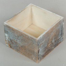 Fa doboz szürke M8x11x11cm