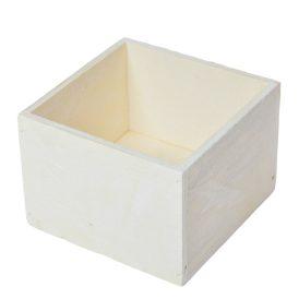 Fa doboz fehér M8x11x11cm