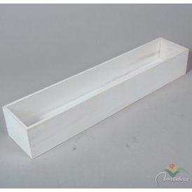 Fa doboz fehér M8x50x10cm